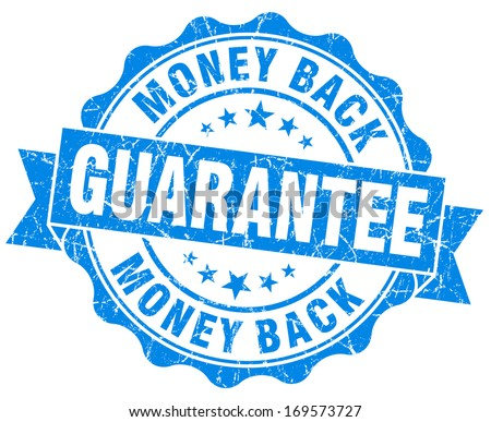 money back guarantee grunge blue stamp - stock photo