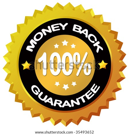 Money back guarantee label - stock photo