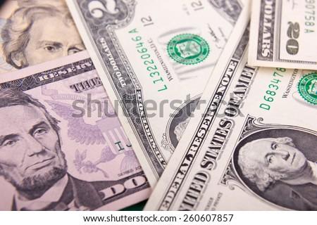Money background - American dollars. - stock photo