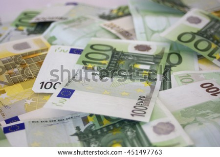 Money background. Euros - stock photo