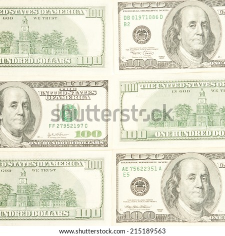 Money background from dollars usa close up - stock photo