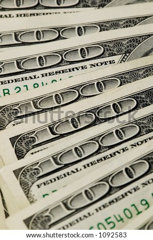Money Background Pattern of one hundred dollar bills - stock photo