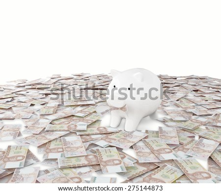 Money Bath business money box pig credit bank savings - stock photo