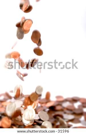 Money - Change Dropped - stock photo