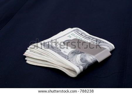 money clip - stock photo
