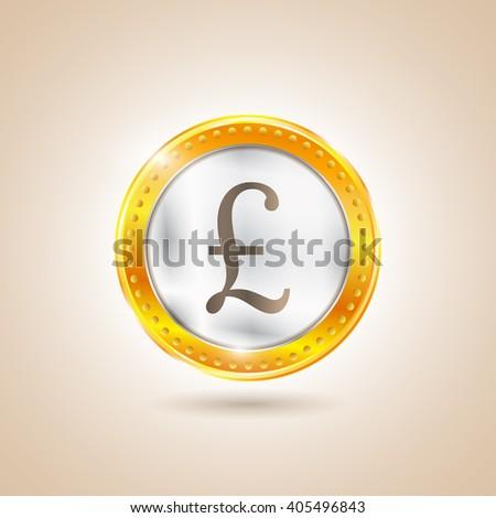 Money - Coin pounds. Illustration - stock photo