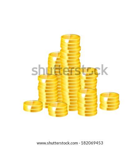 Money coins. Raster copy. - stock photo