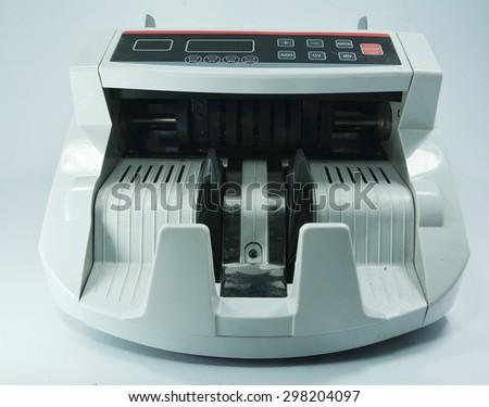 Money counting machines. - stock photo