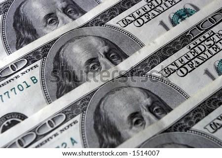 Money, denominations, dollars - stock photo