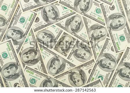 Money dollar background - stock photo