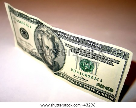 Money, 20 dollar bill. - stock photo