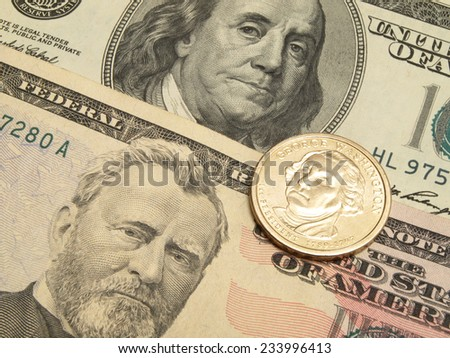 Money dollars       - stock photo