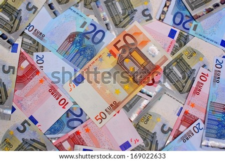 Money euro banknote background abstract - stock photo