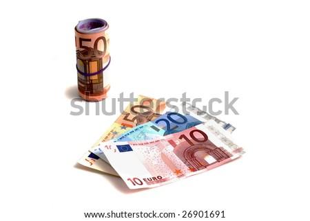 money - euro banknotes - stock photo