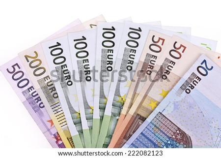 Money,Euro notes - stock photo