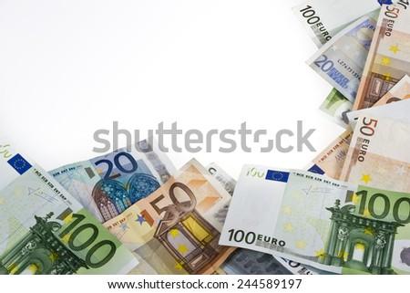 money euros frame - stock photo