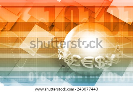 Money Exchange Concept for Online Trading as Art - stock photo