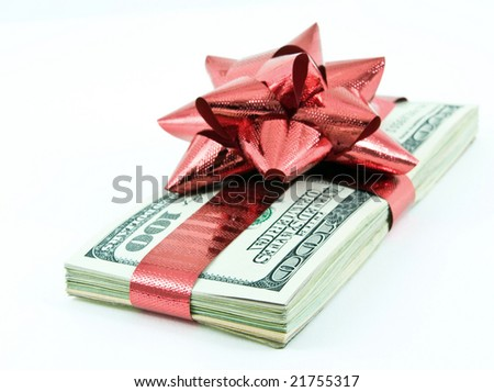 money for christmass - stock photo