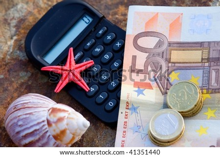 money for holiday 3 - stock photo