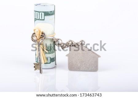 money for house - stock photo