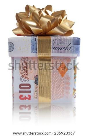 Money gift box  - stock photo