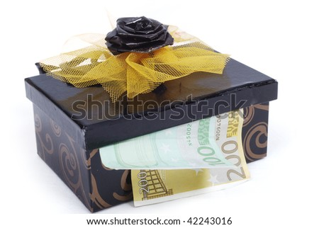 Money in chest - stock photo