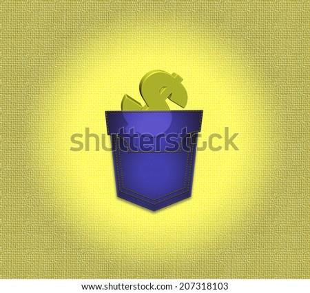 money in pocket  - stock photo