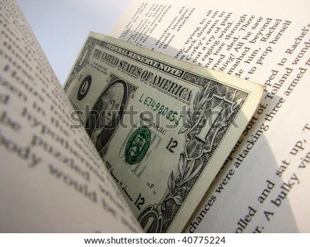 money in the book - stock photo