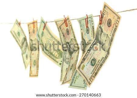 money laundering - stock photo