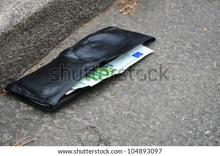 Money loss, lost wallet, finance and bankruptcy. - stock photo