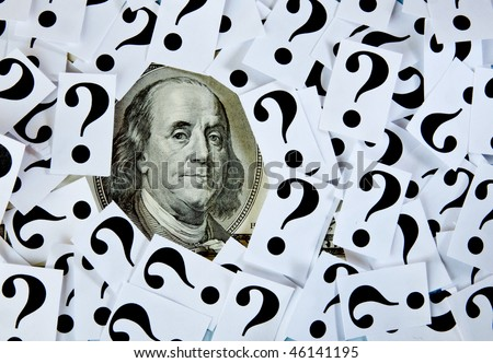 """Money matters. """"Questions"""" series - stock photo"""