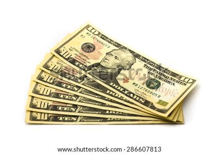 money money money money money - stock photo