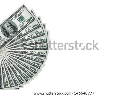 Money Pile $100 dollar bills - stock photo