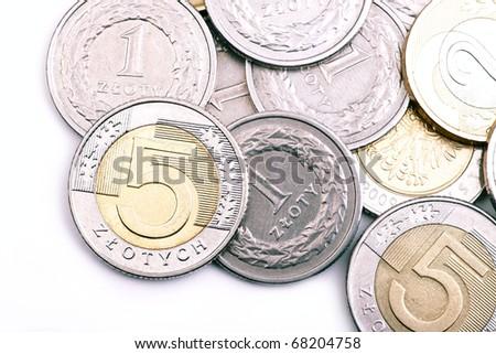 Money PLN on white background - stock photo