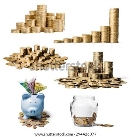 Money, pound, pile. - stock photo