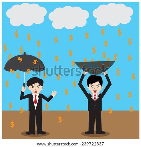 money rain Success - stock photo