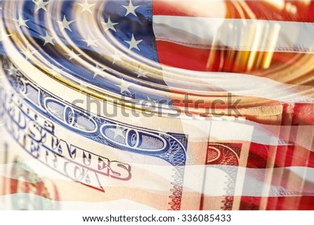 Money Roll. - stock photo