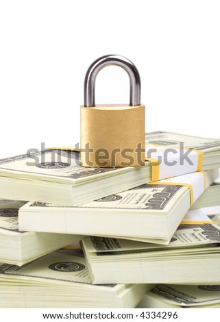 Money security isolated on white background - stock photo
