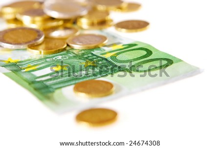 money (shallow depth of field) - stock photo