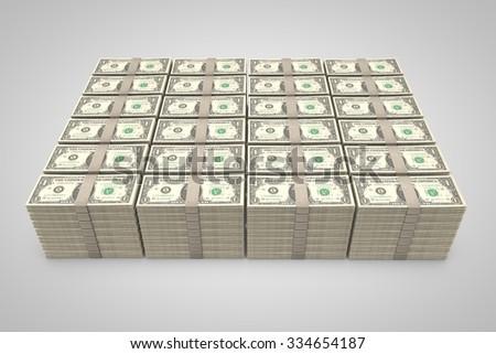 money stack - stock photo