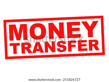 MONEY TRANSFER red Rubber Stamp over a white background. - stock photo