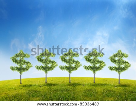 money tree investment growth income interest savings economy funds stock market financial business - stock photo