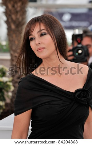 """Monica Bellucci at photocall for her new movie """"Sanguepazzo - Une Histoire Italienne"""" at the 61st Annual Cannes Film Festival. May 19, 2008  Cannes, France. Picture: Paul Smith / Featureflash - stock photo"""