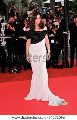 """Monica Bellucci at the premiere of her new movie """"Sanguepazzo at the 61st Annual International Film Festival de Cannes. May 19, 2008  Cannes, France. Picture: Paul Smith / Featureflash - stock photo"""