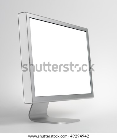 Monitor,aluminum - stock photo