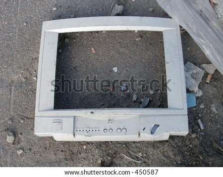 Monitor frame - stock photo