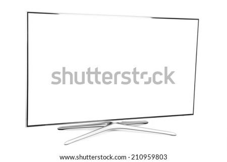 monitor isolated on white - stock photo