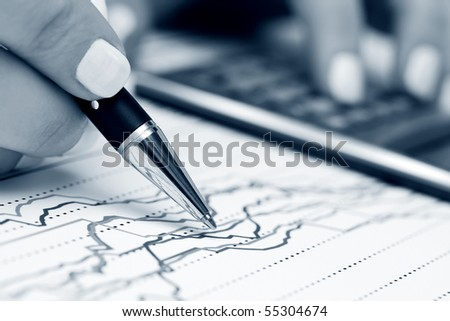 Monitoring of stock index. - stock photo