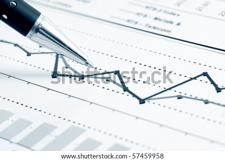 Monitoring of stock index dynamics. - stock photo