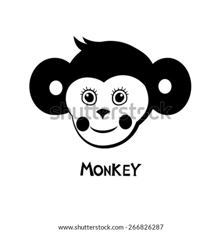 Monkey.  Illustration - stock photo